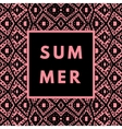 summer hipster boho background vector image vector image