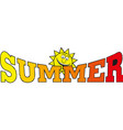 Summer time banner design