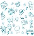 Toy set doodle art for kids vector image vector image
