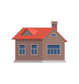 traditional country cottage design element vector image vector image