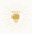 Vintage Beer Logo vector image