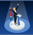 woman is the winner in the elections vector image vector image