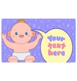 Banner template with kawaii baby and text vector image