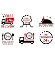 set icons for delivery food services vector image