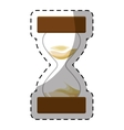 brown stop watch and hourglass icon design vector image