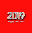 2019 new year in color stripes vector image