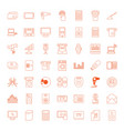 49 electronic icons vector image vector image