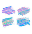 abstract acrylic brush strokes isolated on white vector image
