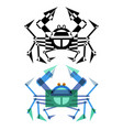 abstract geometrical style crab vector image