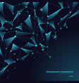 abstract triangles polygonal shapes on dark blue vector image