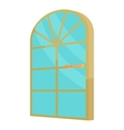 Arched glass door icon cartoon style vector image vector image