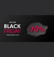 black friday sale -70 banner design modern vector image vector image