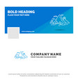 blue business logo template for nature hill vector image