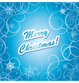 blue christmas frame - eps10 vector image vector image