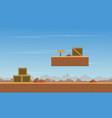 box in desert scenery background game vector image