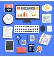 Business work elements vector image vector image