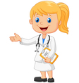 Cartoon a doctor vector image