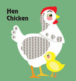 cartoon hen 2 vector image