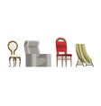 chair comfortable seat for interior style vector image vector image