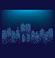 city skyline vector image vector image