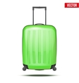 Classic plastic luggage suitcase for air or road vector image