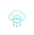 cloud api line icon vector image vector image