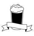 cold beer foam vector image vector image