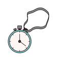 color sketch silhouette stopwatch with timer and vector image vector image