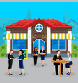 colored flat business lunch people concept vector image
