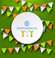 congratulation card for independence day of india vector image vector image