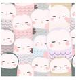 cute funny owl cartoon seamless pattern vector image