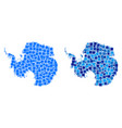 dot antarctica map with blue version vector image vector image