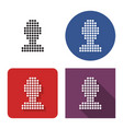 dotted icon male user picture in four variants vector image vector image