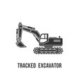 excavator black silhouette icon construction vector image vector image