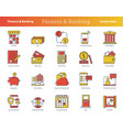 finance colored icon set vector image vector image