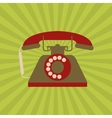 Flat about vintage phone design vector image vector image