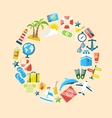 Flat Modern Design Collection Icons of Travel on vector image vector image