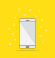 flat style icon of phone vector image vector image
