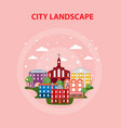 flat urban city poster vector image vector image