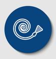 garden hose sign white contour icon in vector image