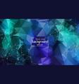 geometric multi blue polygonal background vector image vector image