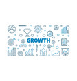 growth concept creative outline vector image
