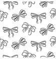 hand drawn bow ties seamless pattern black and vector image vector image