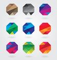 hexagonal logo designs vector image