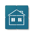 house is built of puzzles vector image vector image