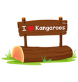 I love Kangaroos vector image vector image