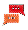 isolated speech bubble vector image
