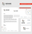 justice business letterhead envelope and visiting vector image vector image