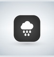 light rain weather icon over application button vector image vector image