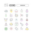 line icons ramadan vector image
